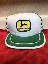 Vintage John Deere SnapBack 3-Stripe Trucker Hat Patch Mesh