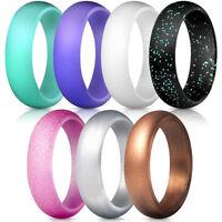 Eg _ 7 Teile/Set Mehrfarbig Mode Silikon Finger Ring Paar Liebhaber Schmuck