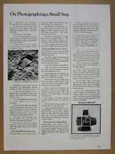 1979 Hasselblad 500 EL/M 500ELM Camera moon footprint photo vintage print Ad