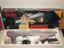 Super Nintendo SUPER SCOPE Gun Controller COMPLETE IN (Variant) BOX w/ SS6 Game