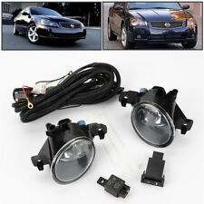 Clear Lens Fog Lights Lamps kit W/ Switch Cable for Nissan Altima 2004-2013 JDM