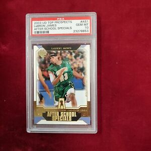 2003 UD Top Prospects LEBRON JAMES After School Specials PSA 10 Lakers ~AA06-853