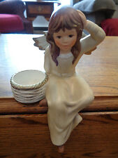 Goebel Angel Figurine W Germany Weihnacht 42 068 Candle Holder Shelf Sitter