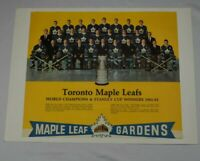 Vintage 1961-62 EXPORT A NHL Hockey Calendar Toronto Maple Leafs Gardens (top)