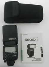 Canon Speedlite 580EX II External Flash with Manual, Table mount, and Case