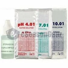 4x20ml, Storage + pH 4 + 7 + 10 Buffer Calibration/Solution/Fluid/Probe/Tester