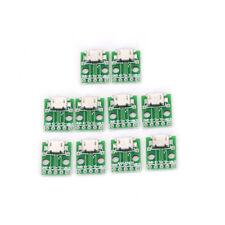 10pcs MICRO USB To DIP Adapter 5pin Female Connector Pcb Converter DIY Kit EevG