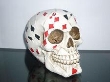 TESCHIO CARTE GRANDE FATTO A MANO horror zombie gotico halloween fermacarte