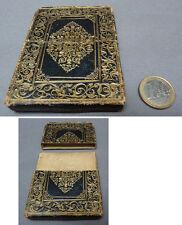 Boite écrin étui à cartes en cuir avec dorures 19e siècle
