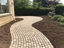 Raj Green Sandstone Setts 1m2 Indian Stone 100x100 200x100 Paving Cobbles