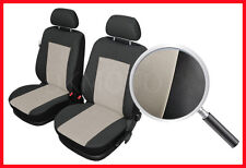 CAR SEAT COVERS pair for front seats fit Citroen C4 - black/beige