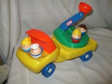 Vintage Little Tikes Toddle Tots Construction Truck Lift truck with 4 figures