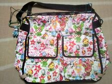 LeSportsac TOKIDOKI Collaboration Shoulder Bag With Front Pocket White Black
