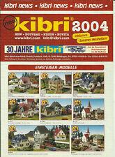 Katalog Kibri Neuheiten 2004 Modellbausätze Gebäude + Zubehör in HO 1:87