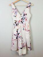 FOREVER NEW | Womens Leslie V/neck Hi-Lo Prom Floral Dress [ Size AU 6 or US 2 ]