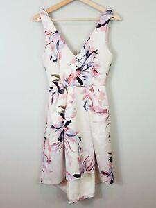 FOREVER NEW   Womens Leslie V/neck Hi-Lo Prom Floral Dress [ Size AU 6 or US 2 ]