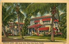 SHADOW LAWN, WEST PALM BEACH, FLORIDA, VINTAGE POSTCARD