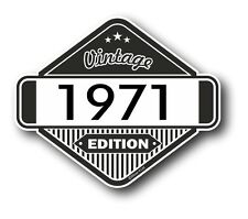 Vintage Edition 1971 Classic Retro Cafe Racer Style Vinyl Motorcycle car sticker