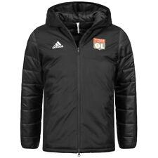 Olympique Lyon Adidas Homme Sport Football Fan Veste Hiver CM1225 Noir Neuf