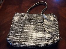 Large Black And White Rebecca Minkoff Tote Style Handbag