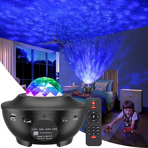 LED Projektor Sternenhimmel Lampe Starry Bluetooth Lautsprecher + Fernbedienung