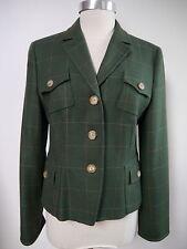 NEW AKRIS PUNTO $1,170 green wool jacket blazer size 8 NWT