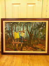 Original Oil on Canvas Signed by Artist Hubbard