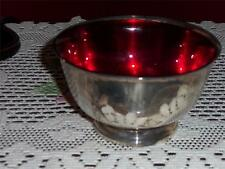 SILVER PLATED BOWL WITH RUBY INLAY BOWL  UNKNOWN MAKER