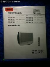 Sony Service Manual KV 14LT1B /E /K /U /14LM1B Color TV (#4482)
