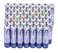 50x AAA 1000mAh 1.2V Ni-MH recargable BTY 3A batería para MP3 RC Juguetes