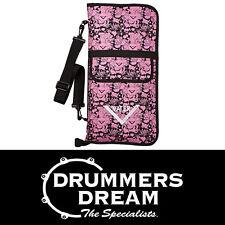 Vater Drum Stick Bag / Case Detachable Shoulder Strap Pink Rocker Girl Print NEW