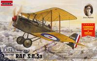 Roden 023 - 1/72 -British fighter RAF S.E.5A with Hispano Suza WWI plastic model