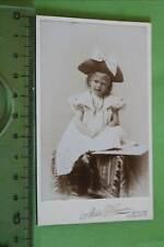 tolles altes CDV -  süßes kleines Mädchen -  Erfurt
