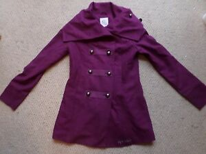 LADIES GORGEOUS NEW RIP CURL PURPLE TRIBECA JACKET / COAT SIZE: SMALL / S