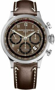 Baume & Mercier Men's Brown Capeland Analog Display Automatic MOA10002 Watch