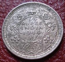 1944-L BRITISH INDIA 1/4 RUPEE IN EF CONDITION (.500 SILVER)
