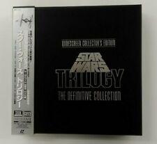 STAR WARS TRILOGY  9LD BOX  THX  Wide screen JAPAN  Laser disc +obi