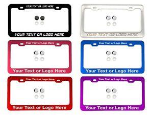Personalize License Plate Frame Tag Holder Laser Engraved fit Nissan
