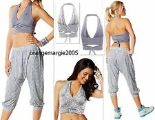 ZUMBA 2pc.SET!! HAREM Hip Hop Capri Pants & Reversible Wrap Bra Top Rare!! S M L