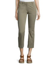 Theory Avla New Chino Slim Fit Pants in Moss Size 0 NWT $275