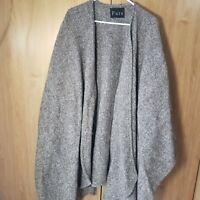 Women's Shawl Wrap Poncho PURE Cape Cardigan Sweater Open Front Wool/Silk