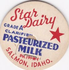 MILK BOTTLE CAP. STAR DAIRY. SALMON, ID. REPRODUCTION