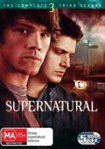 Supernatural : Season 3 (DVD, 2008, 5-Disc Set) very good condition free post