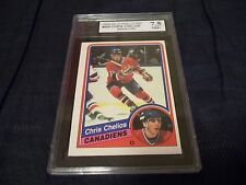 1984-85 OPC O-Pee-Chee #259 Chris Chelios Rookie Montreal Canadiens -KSA 7.5 NM+