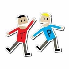Terrance & Phillip Sticker / Decal - South Park Funny Cartoon T&P Car Laptop 4x4
