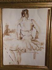 JACQUELINE OBLIN - CORBIN-  dessin-LAVIS ORIGINAL,Danseuse - NON SIGNÉ - N°82