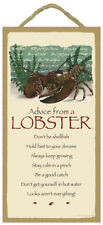 Advice From A Lobster wood Inspirational Sign wall Novelty Plaque Animal Usa new
