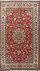 Vintage Floral RED/IVORY Najafabad Classic Hand-Made Traditional Area Rug 8x12