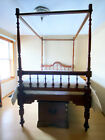 Anglo-Indian four-poster bed, includes custom mattress