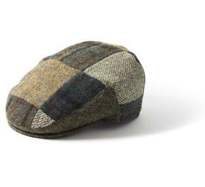 Failsworth Stornoway Harris Tweed Flat Cap - Patchwork